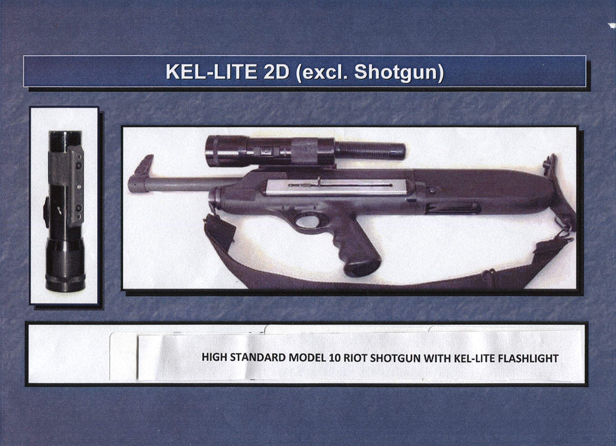 High Standard Mod B Shotgun with 2 D cell Kel-Lite